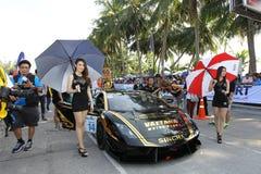 Ação de Lamborghini Gallardo na série super de Tailândia Fotos de Stock