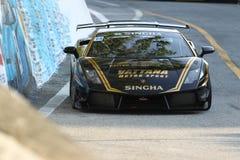 Ação de Lamborghini Gallardo na série super de Tailândia Fotografia de Stock