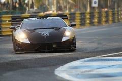 Ação de Lamborghini LP600 GT3 na série super de Tailândia Imagens de Stock Royalty Free