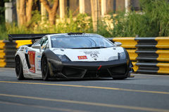 Ação de Lamborghini LP600 GT3 na série super de Tailândia Foto de Stock