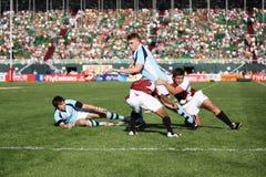Ação de Sevens do rugby Fotos de Stock