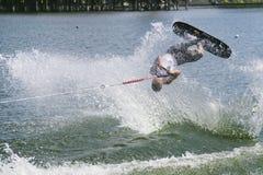 Ação de Shortboard dos homens - Jaret Llewellyn Fotos de Stock Royalty Free