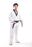 Ação de Taekwondo Fotografia de Stock Royalty Free