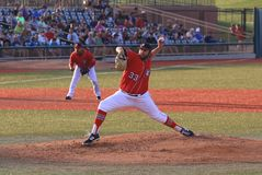 Ação do basebol Imagens de Stock