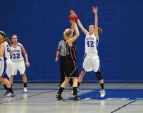 Ação do basquetebol Fotografia de Stock Royalty Free