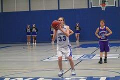 Ação do basquetebol Foto de Stock