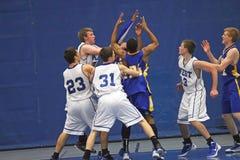 Ação do basquetebol Fotos de Stock