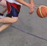 Ação do basquetebol Fotos de Stock Royalty Free