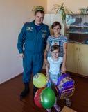 A ação do ` bielorrusso do estudante do portfólio da concessão do ` dos sapadores-bombeiros na região de Gomel Imagem de Stock