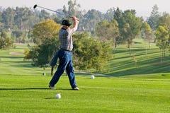 Ação do campo de golfe Fotografia de Stock Royalty Free