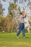 Ação do campo de golfe Fotografia de Stock