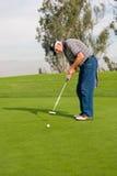 Ação do campo de golfe Foto de Stock Royalty Free