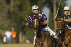 Ação do cavaleiro do campeonato do mundo de PoloCrosse Fotografia de Stock Royalty Free