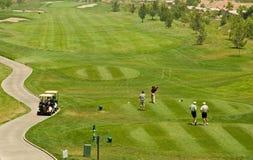 Ação do clube de golfe Fotografia de Stock