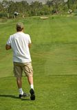 Ação do clube de golfe Fotos de Stock Royalty Free
