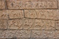 Ação do exército do ` s do rei nas esculturas Imagens de Stock