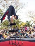 Ação do executor na mostra 2014 da rua de Banguecoque Fotografia de Stock