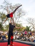 Ação do executor na mostra 2014 da rua de Banguecoque Imagens de Stock