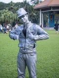 Ação do executor na mostra 2014 da rua de Banguecoque Foto de Stock Royalty Free