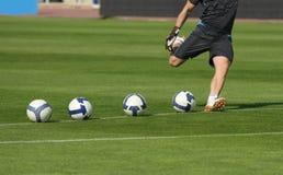 Ação do futebol Imagens de Stock
