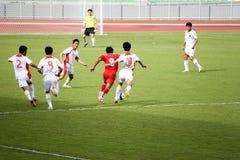 Ação do futebol Imagem de Stock