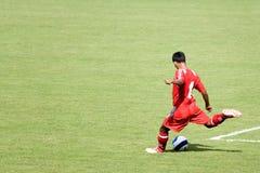 Ação do futebol Foto de Stock Royalty Free