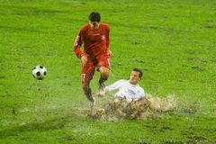 Ação do futebol fotografia de stock royalty free