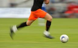 Ação do futebol Fotos de Stock