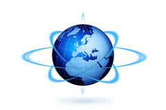 Ação do globo do mundo ilustração stock