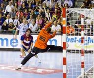 Ação do handball Foto de Stock Royalty Free