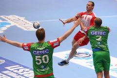 Ação do handball Imagem de Stock