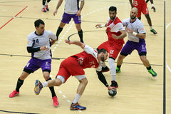 Ação do handball Imagem de Stock Royalty Free