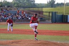 Ação do jogo de basebol Fotos de Stock