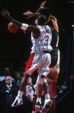 Ação do jogo de basquetebol Foto de Stock