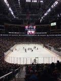 Ação do jogo em um jogo de NHL Fotografia de Stock