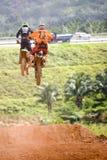 Ação do motocross Foto de Stock