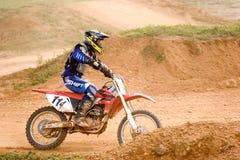 Ação do motocross Fotografia de Stock Royalty Free