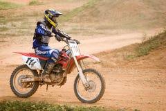 Ação do motocross Fotos de Stock Royalty Free