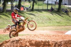 Ação do motocross Imagens de Stock