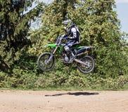 Ação do motocross Imagem de Stock