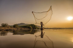 Ação do pescador Imagem de Stock Royalty Free