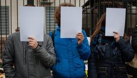 Ação do protesto Fotos de Stock
