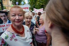 Ação do protesto dos representantes do circo Imagem de Stock