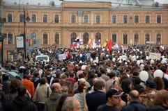 Ação do protesto em St Petersburg, Rússia Foto de Stock
