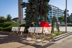 Ação do protesto perto da corte de Burgas Fotografia de Stock Royalty Free