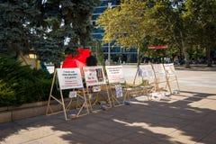 Ação do protesto perto da corte de Burgas Imagem de Stock Royalty Free