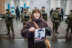 Ação do protesto sob a residência de Petro Poroshenko Imagem de Stock Royalty Free