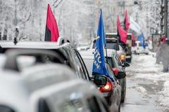 Ação do protesto sob a residência de Petro Poroshenko Fotografia de Stock