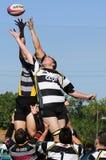 Ação do rugby Fotografia de Stock Royalty Free