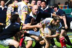 Ação do rugby Fotos de Stock Royalty Free